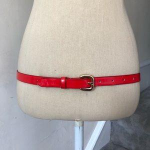 Alice + Olivia Patent Leather Skinny Belt